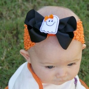 Other - Halloween Headbands for Little Girls - Ghost Bow